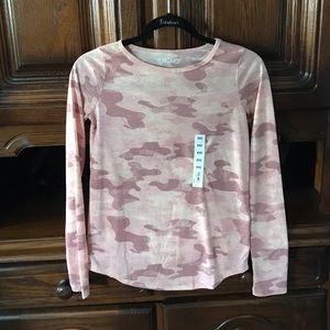NWT Mudd Pink Camo Long Sleeve Shirt